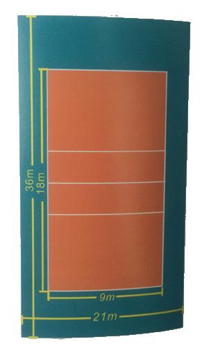 Thông số kỹ thuật của 1 tấm thảm sân bóng chuyền Enlio