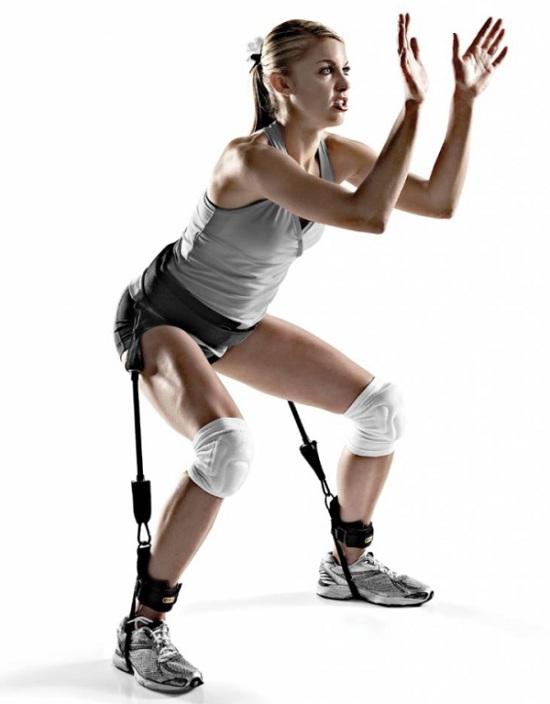 Dây đàn hồi tập chân mông