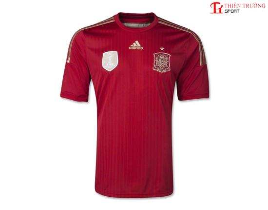 Quần áo bóng đá đội Tây Ban Nha xanh năm 2014