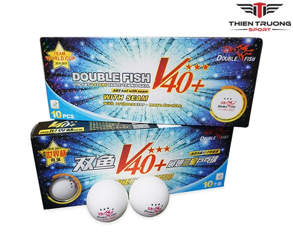 Quả bóng bàn Double Fish V40+ 3 sao 10q/hộp