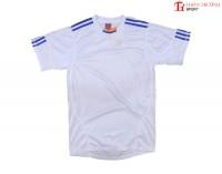 Quần áo thể thao 0490 trắng xanh
